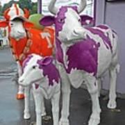 Purple Cow 2 Art Print