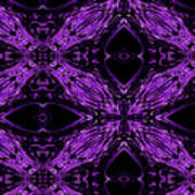 Purple Crosses Connecting Art Print