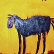 Purple Desert Donkey Art Print