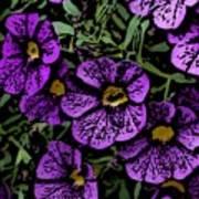 Purple Floral Fantasy Art Print