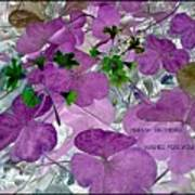 Purple Flower Wishes Art Print