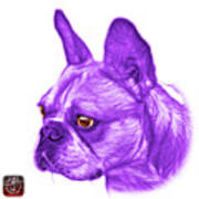 Purple French Bulldog Pop Art - 0755 Wb Art Print