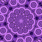 Purple Geek Kaleidoscope Five Art Print