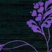Purple Glamour On Black Weave Art Print