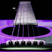 Purple Guitar 15 Print by Andee Design