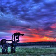 Purple Haze Sunrise The Iron Horse Art Print