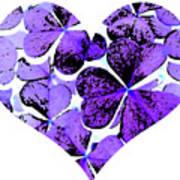 Purple Heart Art Art Print