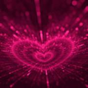 Purple Heart Valentine's Day Art Print