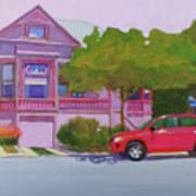Purple House, Alameda Art Print