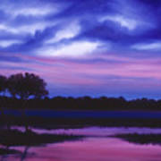 Purple Landscape Or Jean's Clearing Art Print