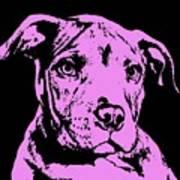 Purple Little Pittie Art Print by Dean Russo