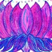 Purple Lotus Art Print