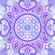 Purple Lotus Mandala Art Print