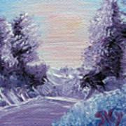 Purple Majesty Landscape Print by Jera Sky