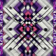 Purple Maze Art Print