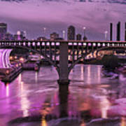 Purple Minneapolis For Prince Art Print