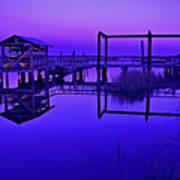 Purple Perspectives Art Print