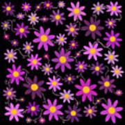 Purple Polka Art Print