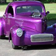 Purple Rod Art Print