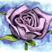 Purple Rose Art Print by Robert Morin