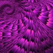 Purple Shell Art Print