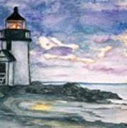 Purple Skies Over Nantucket Art Print
