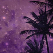 Purple Sky Palm Art Print