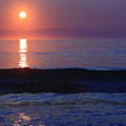 Purple Sunrise On Nauset Beach Art Print