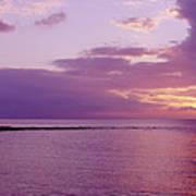 Purple Sunset At Kapalua Beach Art Print