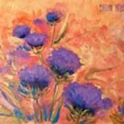 Purple Thistles Art Print