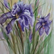 Purple Times 3 Art Print