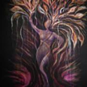 Purple Tree Goddess Art Print
