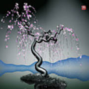 Purple Tree In Water 2 Art Print by GuoJun Pan