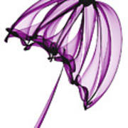 Purple Umbrella Art Print