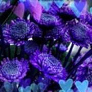 Purple  Valentine Art Print