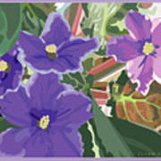 Purple Violets Art Print