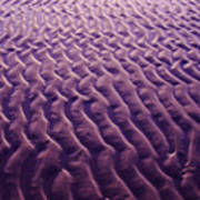 Purple Waves Of Sand Art Print
