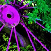 Purple Wheel Art Print