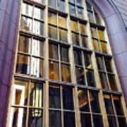 Chicago Golden Purple Window Panes Art Print