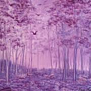 Purple Woods Art Print