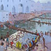 Pushkar Ghats Rajasthan Art Print