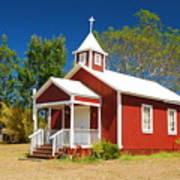 Pu'uanahulu Baptist Church - Pu'uanahulu Art Print
