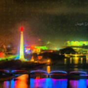 Pyongyang Night Scene Art Print