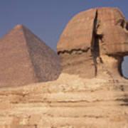 Pyramid And Sphinx Art Print
