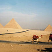 Pyramids At Giza Art Print