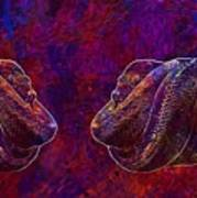 Python Snake Green Tree Python  Art Print