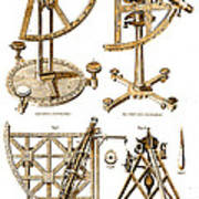 Quadrants And Sextant, 1790 Art Print