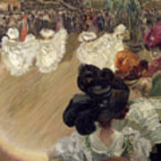 Quadrille At The Bal Tabarin Print by Abel-Truchet