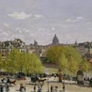 Quai Du Louvre In Paris Art Print