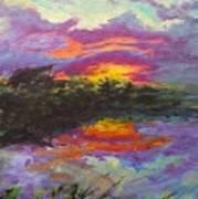 Quail Lake Art Print